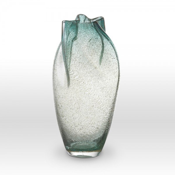Ice Blue Seeds Vase IC0213 - Viterra Art Glass