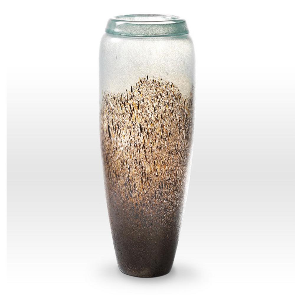 Earth Tones Turquoise Vase LA0118 - Viterra Art Glass