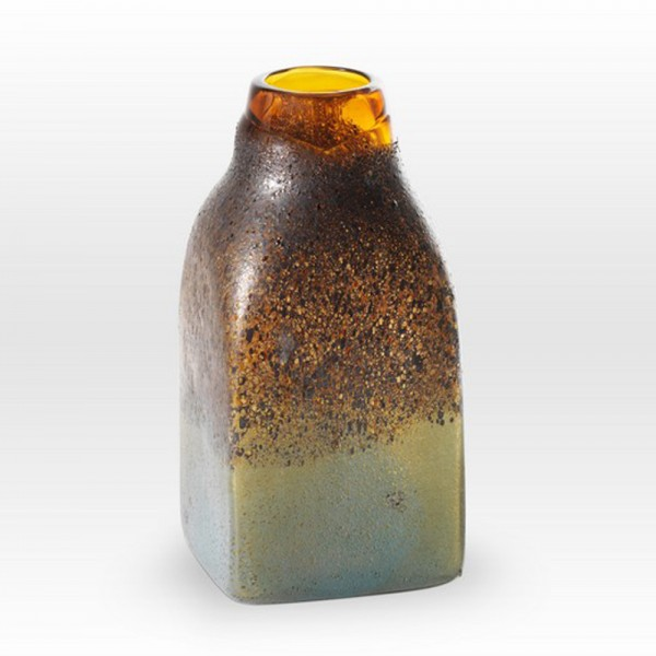 Amber Stone Vessel MG0210 - Viterra Art Glass