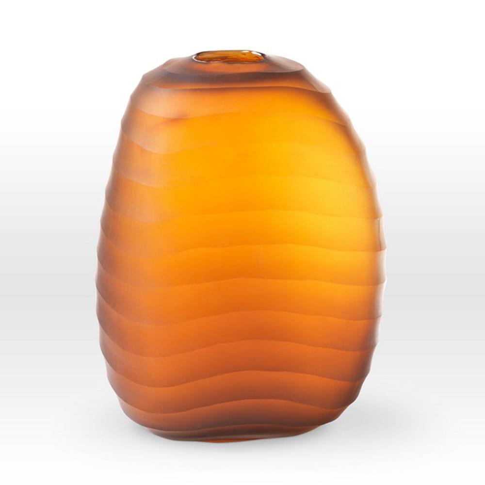 Cinnamon Cut Vase MN0210 - Viterra Art Glass