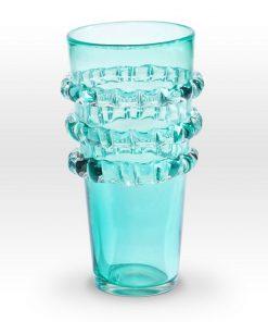 Aqua Vase RI0112 - Viterra Art Glass