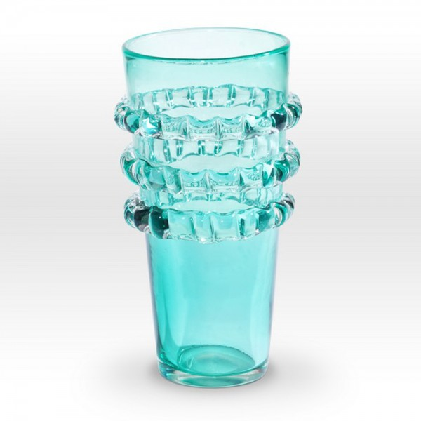 Aqua Vase RI0112 - Viterra Art Glass