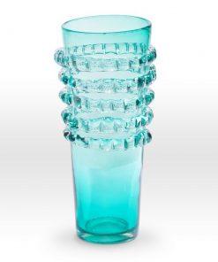 Aqua Vase RI0116 - Viterra Art Glass