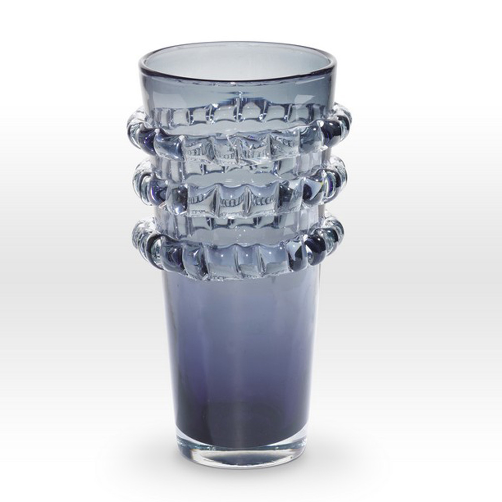 Grey Vase RI0212 - Viterra Art Glass