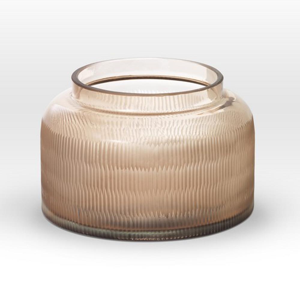 Light Rose Cut Vase RQ0107 - Viterra Art Glass