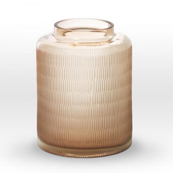 Light Rose Cut Vase RQ0112 - Viterra Art Glass