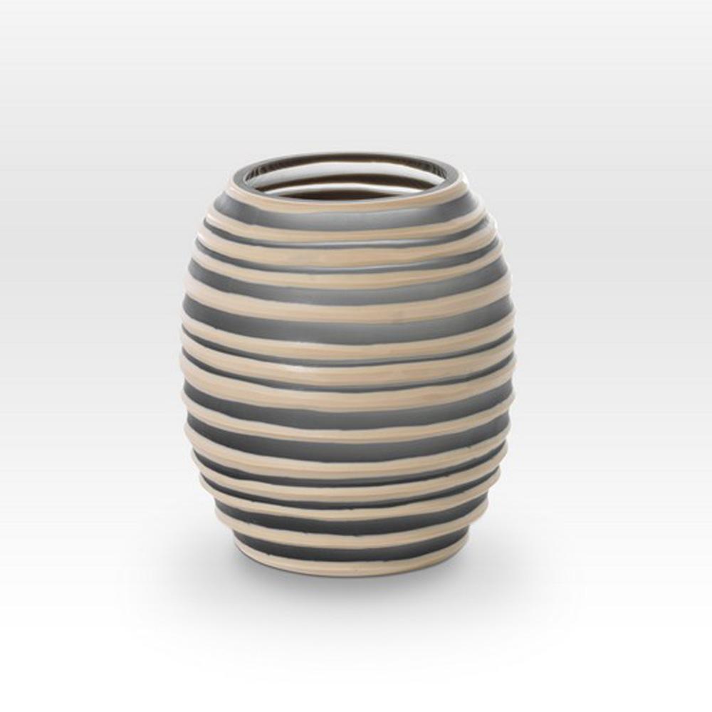 Gray Camel Cut Vase SG0107 - Viterra Art Glass