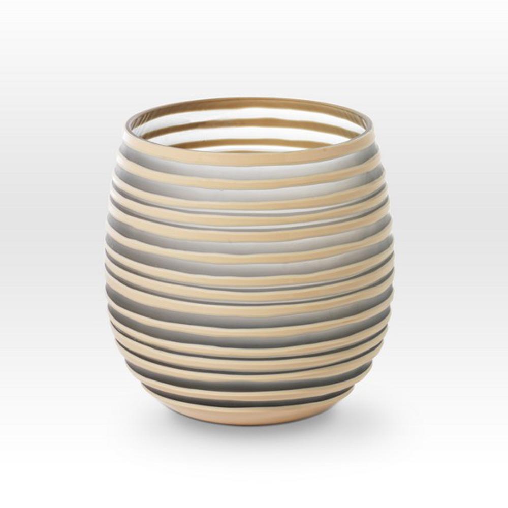 Gray Camel Cut Vessel SG0108 - Viterra Art Glass