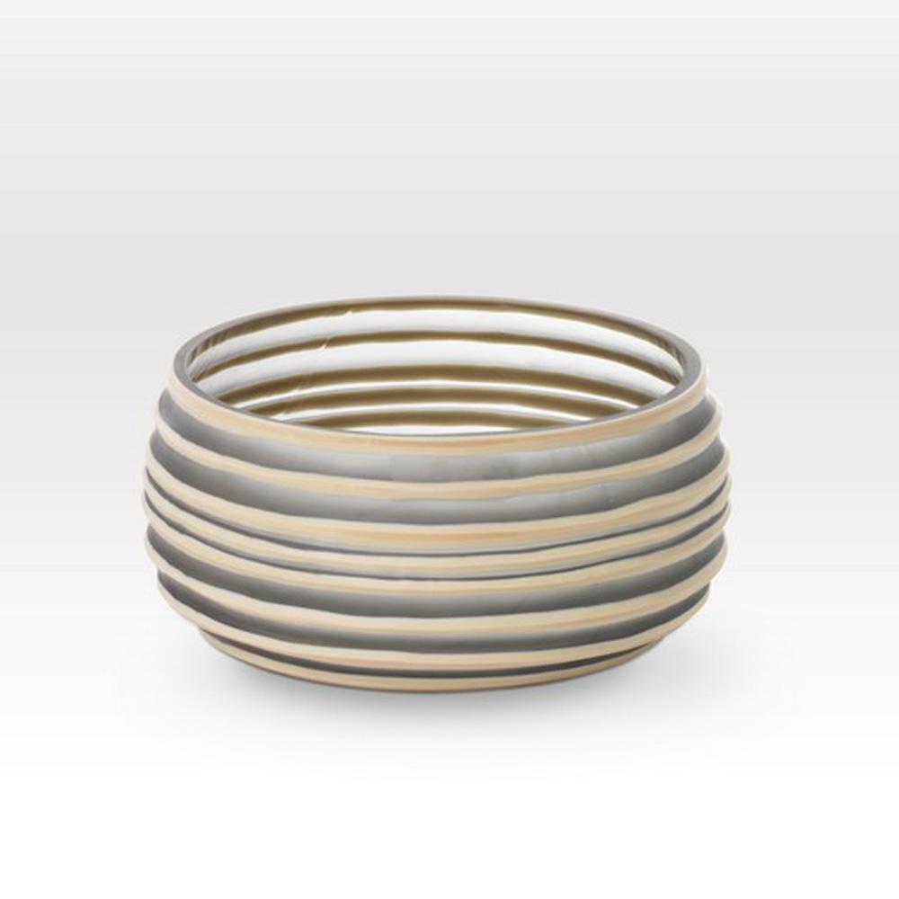Gray Camel Cut Bowl SG0109 - Viterra Art Glass
