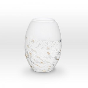 White Gold Vase SH0109 - Viterra Art Glass