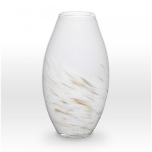 White Gold Vase SH0114 - Viterra Art Glass
