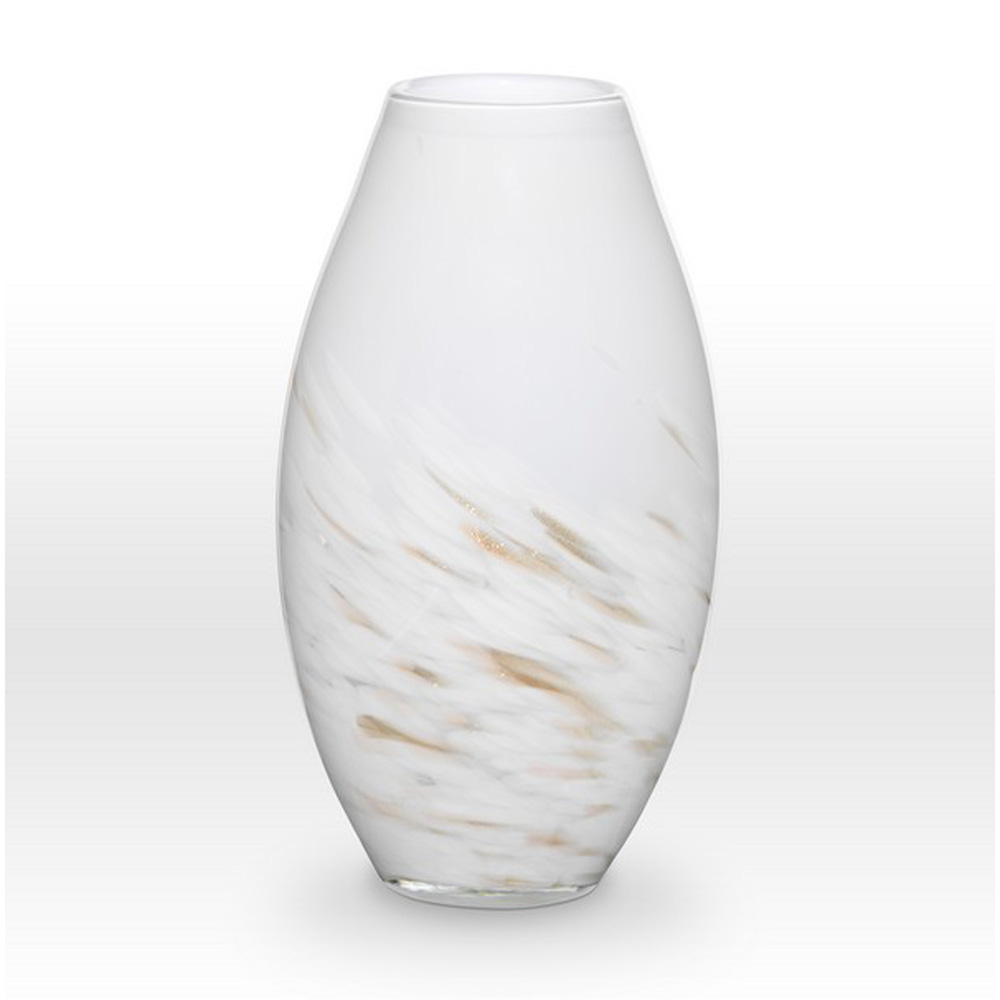 White Gold Vase SH0114 - Viterra Art Glass