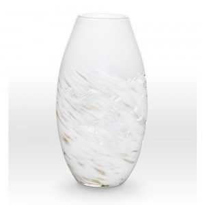 White Gold Vase SH0115 - Viterra Art Glass