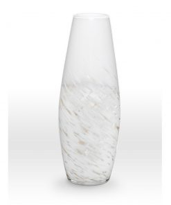 White Gold Vase SH0120 - Viterra Art Glass