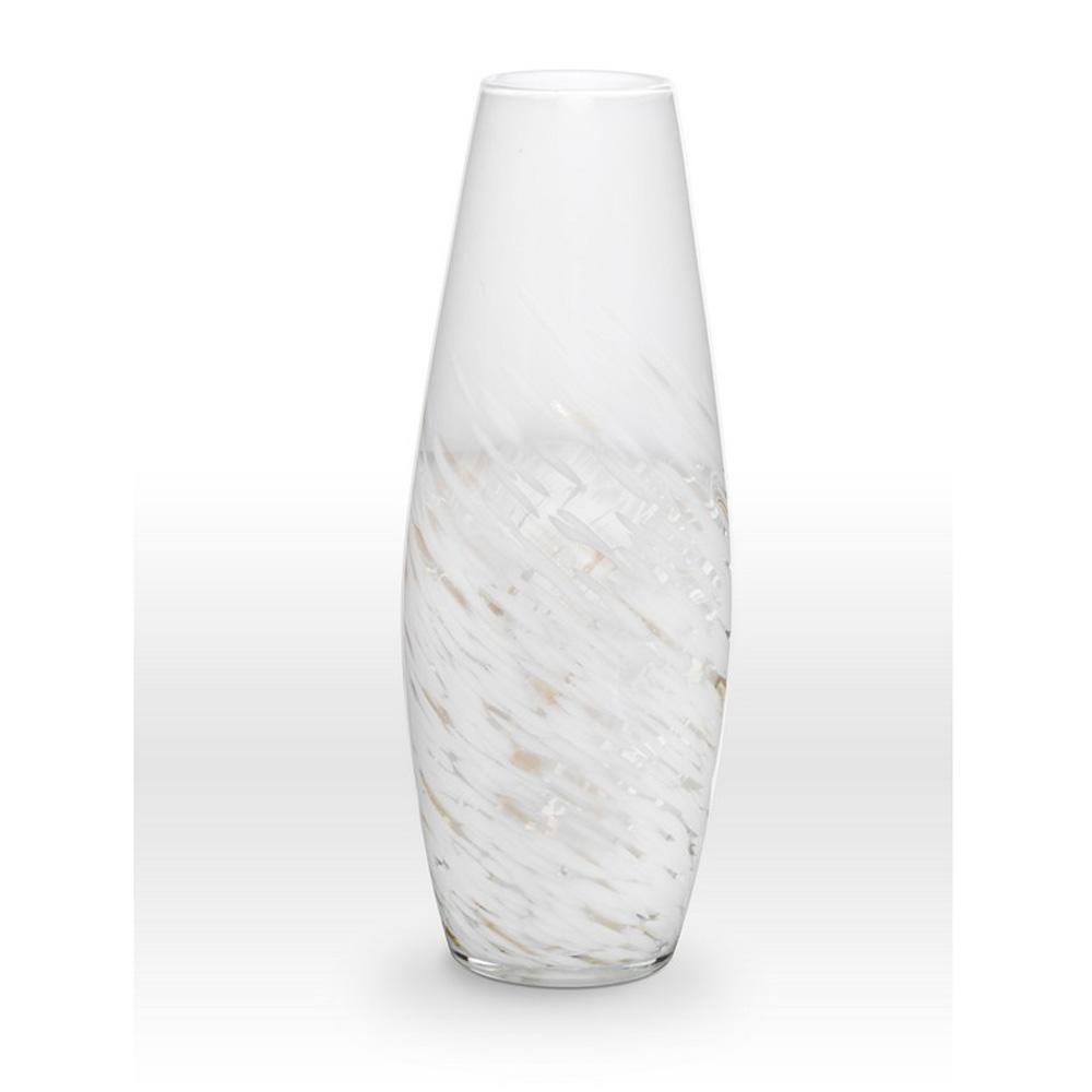 White Gold Vase SH0120 - Viterra Art Glass