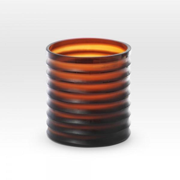 Gold Amber Cut Vase SN0106 - Viterra Art Glass