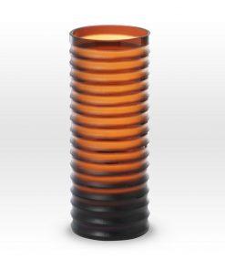 Gold Amber Cut Vase SN0112 - Viterra Art Glass