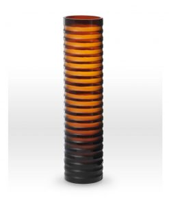 Gold Amber Cut Vase SN0120 - Viterra Art Glass