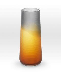 Ombre Amber Smoke Cut Vase SU0112 - Viterra Art Glass