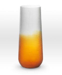 Ombre Amber Smoke Cut Vase SU0116 - Viterra Art Glass