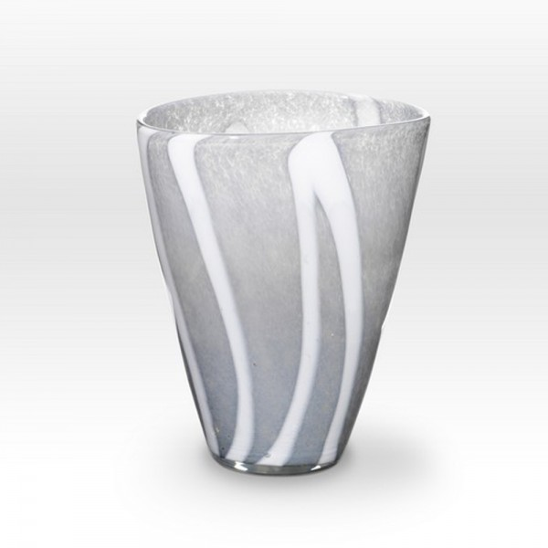 Gray Vase ZG0210 - Viterra Art Glass