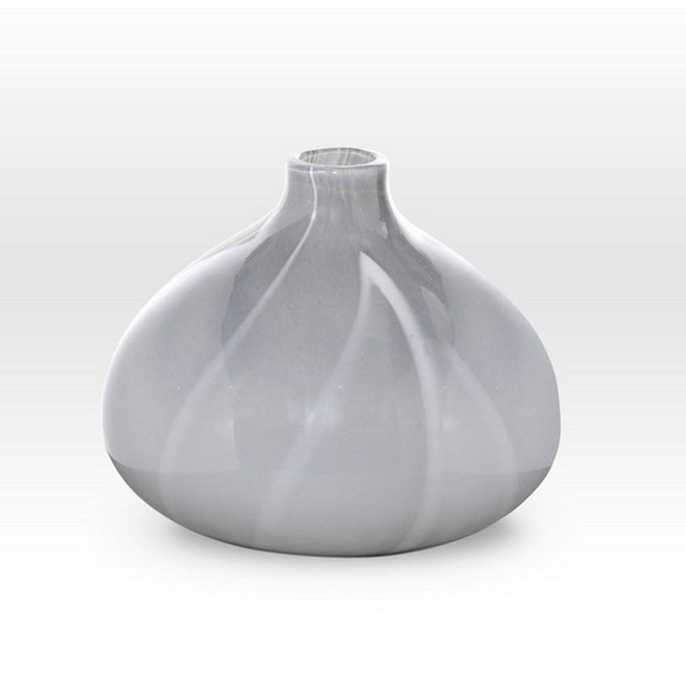 Gray Narrow Neck Vase ZG0210 - Viterra Art Glass