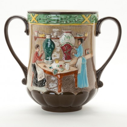 Pottery in the Past Loving Cup D6696 - Royal Doulton Loving Cup