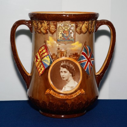 Queen Elizabeth II Coronation - Royal Doulton Loving Cup
