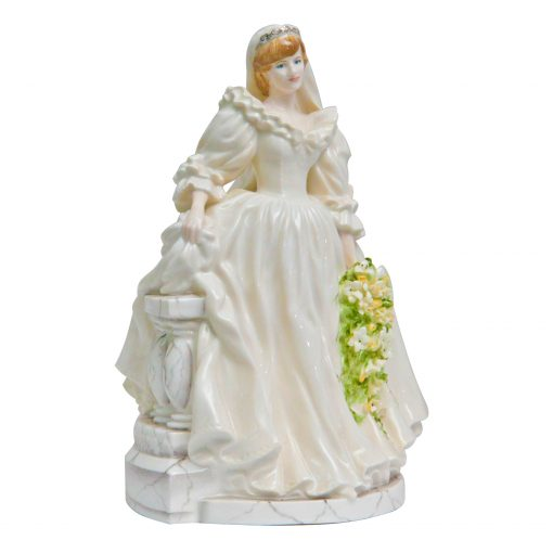 Diana Princess of Wales Bride CW546 - Coalport Figurine