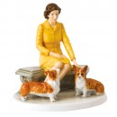 Her Majesty At Home HN5807 - Royal Doulton Figurine