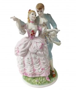 The Flirtation CW304 - Royal Worcester Figurine