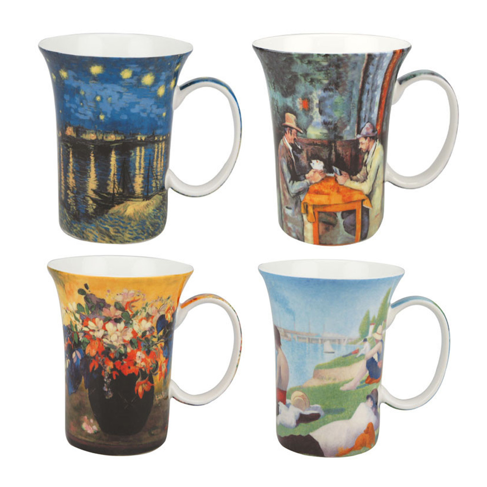Post Impressionist - Set of 4 Mugs - Boxed Mug Set