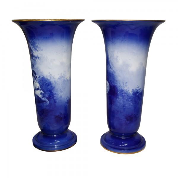 Blue Children Pedestal Vase Pa