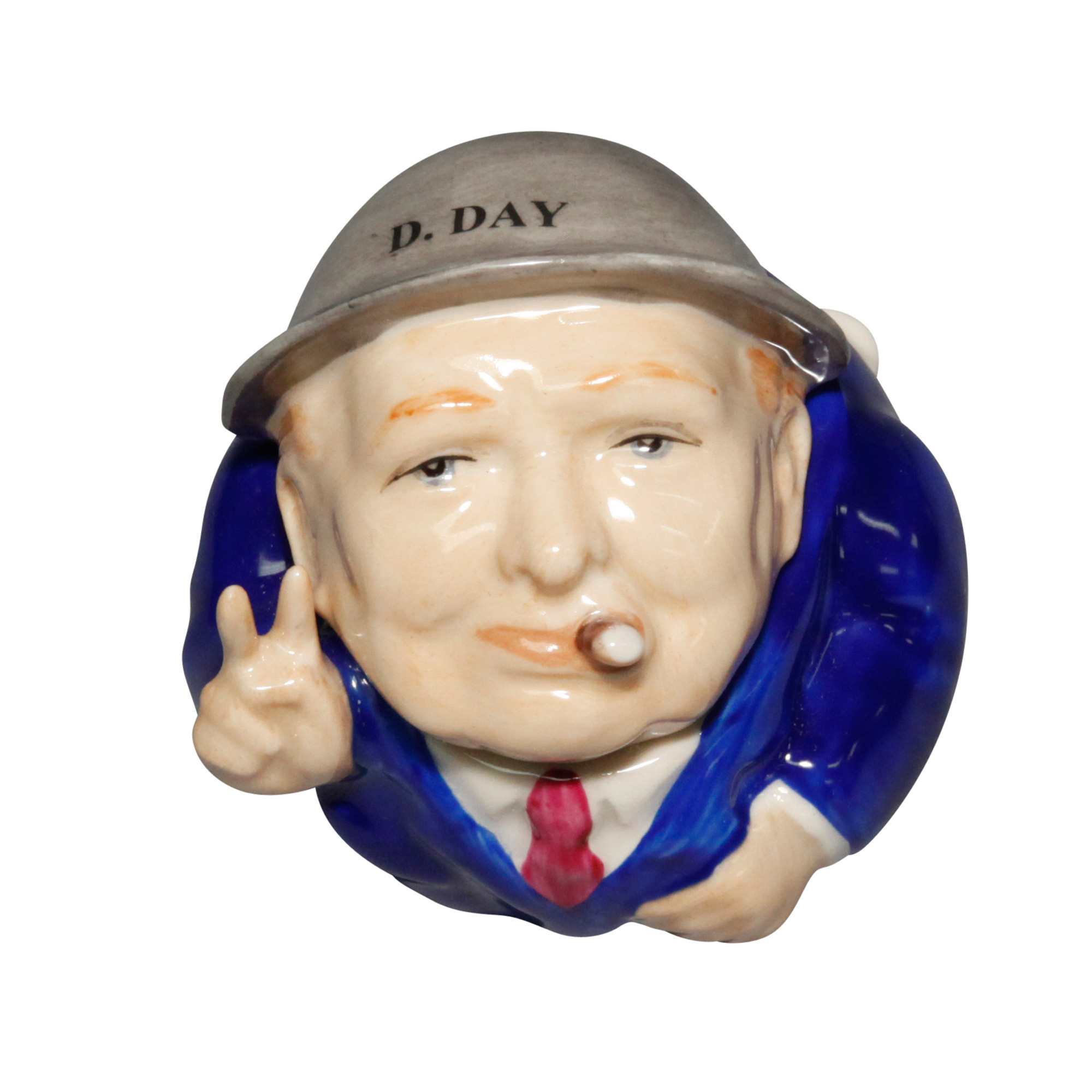 D-Day Churchill Face Pot