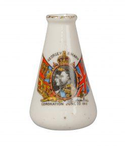 Tuscan China - George V and Mary - 1911 Coronation - Miniature Vase