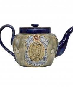 Royal Doulton - George V & Queen Mary Stoneware Teapot