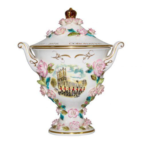 Coalport Queen Elizabeth II Coronation Lidded Bowl