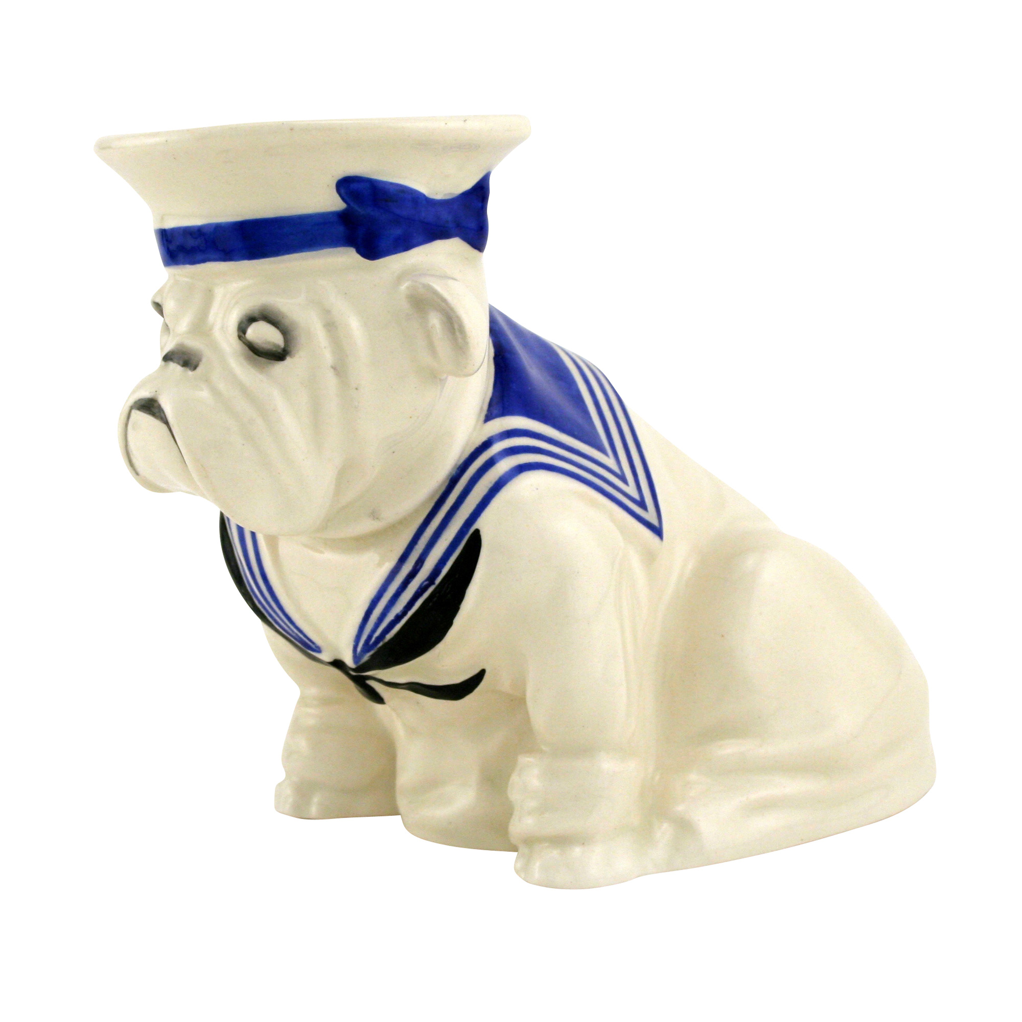 Bulldog Wearing Sailor Suit and Cap D6193 - Small
