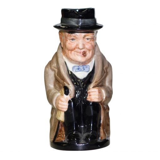 Winston Churchill Toby Jug with Prime Minister Backstamp D6172 - Medium