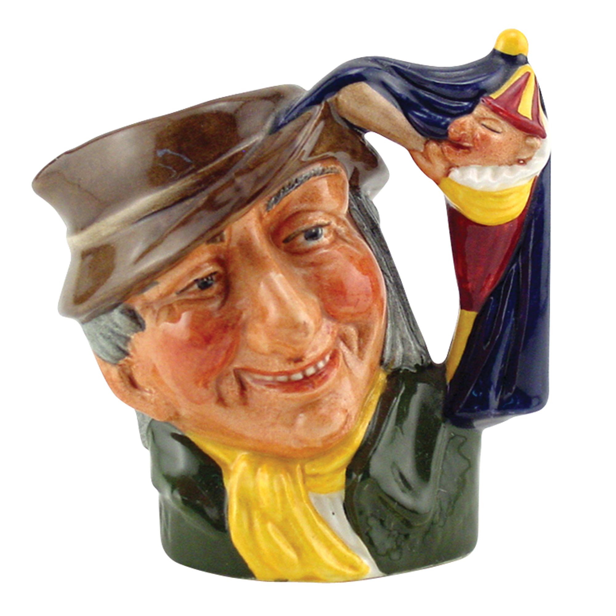 Punch and Judy Man D6596 - Bone China - Miniature - Royal Doulton Character Jug