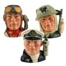 Canadian Soldier Matched Set 3 D6903/4/5 - Small - Royal Doulton Character Jug