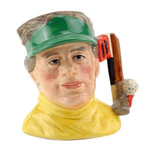 Golfer Modern with 18th Hole D6865FS - Small - Royal Doulton Character Jug