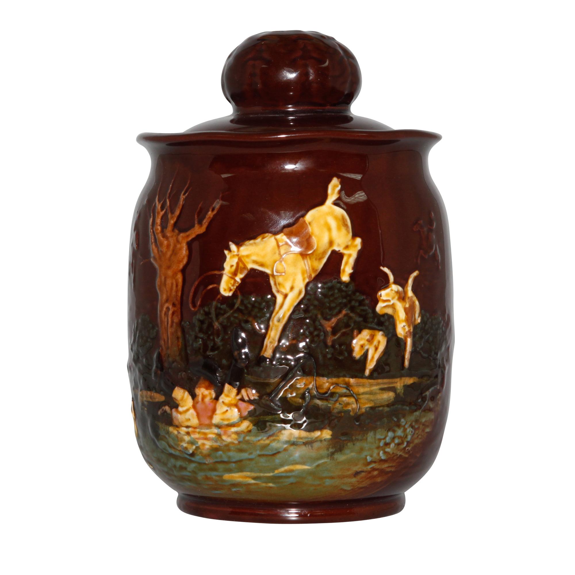 Kingsware Hunting Tobacco Jar