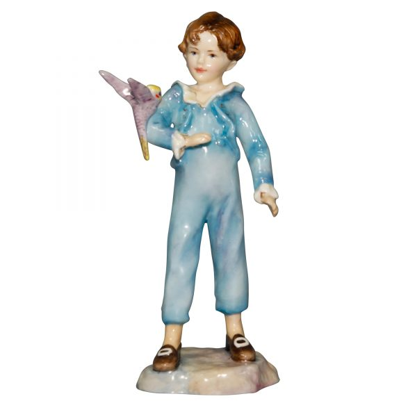 Boy with Parakeet RW3087 - Royal Worcester Figurine
