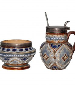 2pc Mustard Set - Doulton Lambeth Stoneware