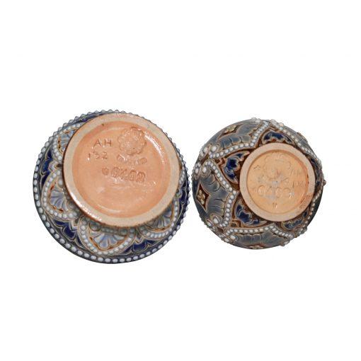2pc Mustard Set - Doulton Lambeth Stoneware