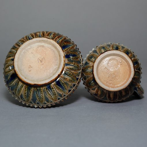 Cream Sugar in Case - Doulton Lambeth Stoneware
