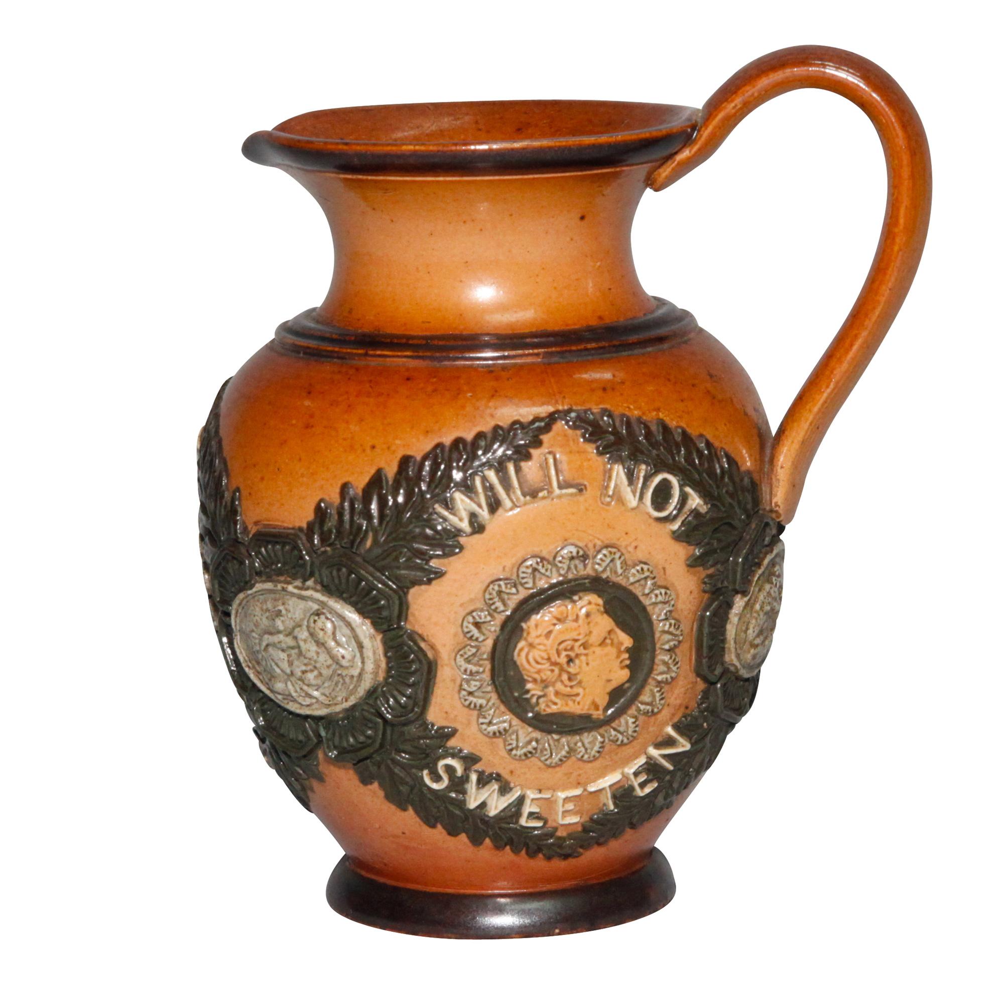 Stoneware Sayings Pitcher