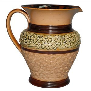 Stoneware Pitcher with Scrolls