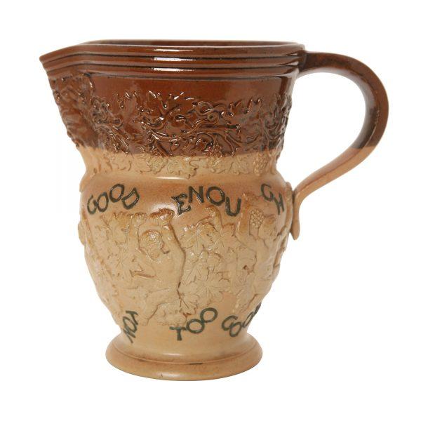 Stoneware Bacchus Pitcher